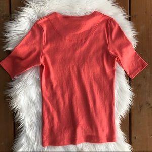 Lilla P Tops - [Lilla P] NWT V Neck Punch Colored Top - Small
